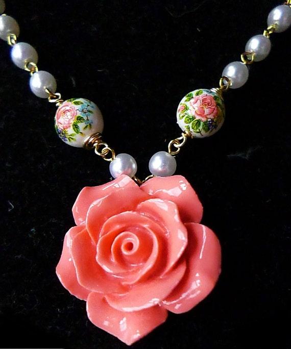 spring floral necklace