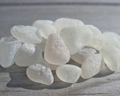 Authentic Sea Glass: 22 pieces of very light colors