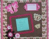 Premade Scrapbook Page 12 x 12 -One of a Kind