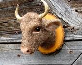 miniature bull wall mount