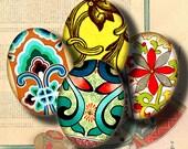 Ornement asiatiques (10) feuille de Collage numérique - Art de fioritures d'Orient - ovales 30x40mm ou 18x25mm ou autre taille - Buy 3 Get 1 Extra gratuit