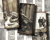 20 000 LEAGUES UNDER the SEA, Jules Verne - Digital Collage Sheet - Dominos 1x2 inch for jewelry - Buy 3 Get 1 Extra Free