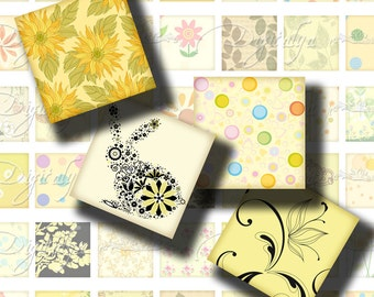Shades of Yellow (2) Squares 1x1 or smaller available - Digital Collage Sheet Sparkling & Pastel Chic Designs - Buy 3 Get 1 Extra Free