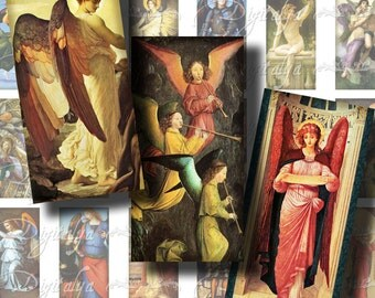 Precious Angels (1) Digital Collage Sheet - Dominos 1x2 inch or Bamboo size - Buy 3 Get 1 Extra Free