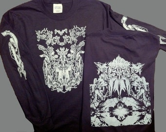 Long sleeve shirt intricate original art design by dan infecto screen printed limited