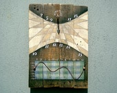 Pallet Wood Sundial - functional art wall decor SAMPLE