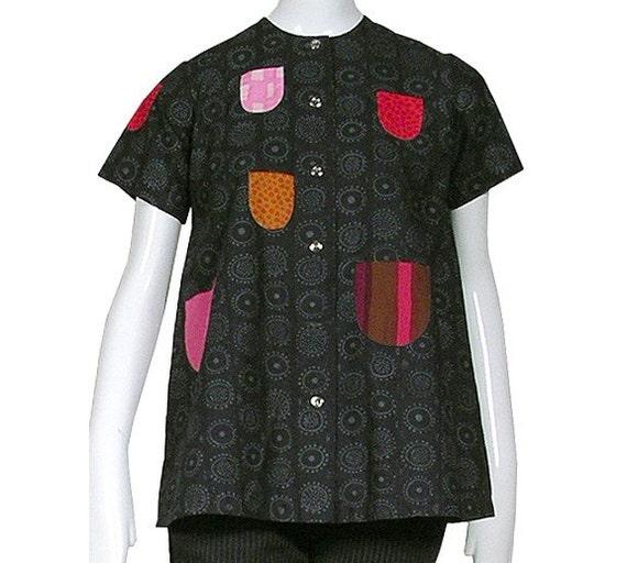 Vintage 60s iconic MARIMEKKO patchwork quilt shirt, blouse