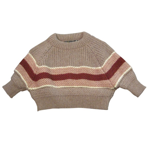Shmata cropped sweater SHRUG reclaimed from vintage wool sweaters, BLANKET STRIPE