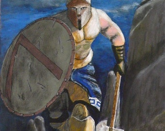 Spartan Warrior at night