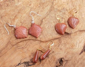 Special earring gift set, three sets of goldstone gemstone earrings