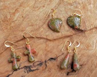 Special offer gift set, three sets of ukanite gemstone earrings