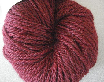 Crimson Red Hand Dyed 80/20 Corriedale-Silk 3 Ply Yarn