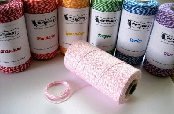 30 yards Bakers Twine You Pick Colors - Choose from 17 colors