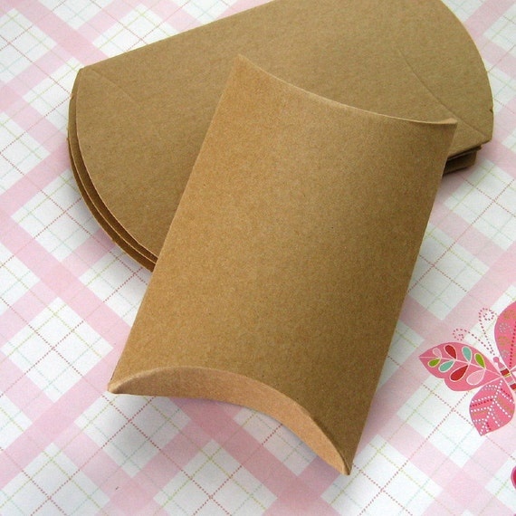 120 Kraft Pillow Boxes 3.25 x 3 x 1 inches RESERVED