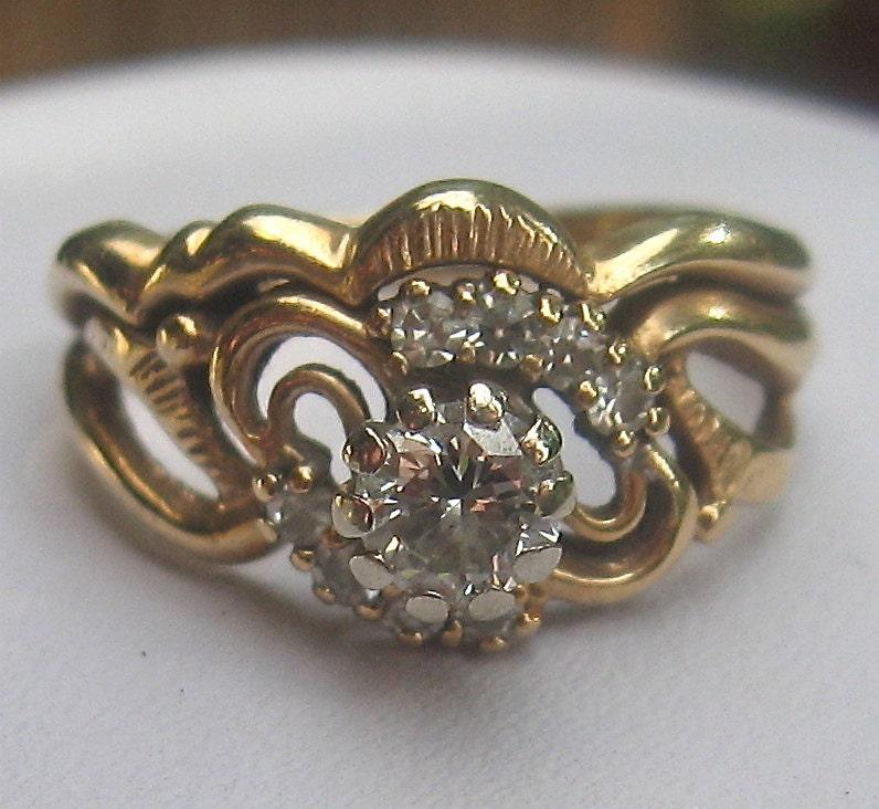 unique 1970s 5 carat diamond vintage wedding ring victorian