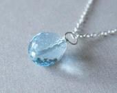 December - Sky Blue Topaz Necklace