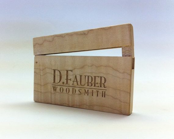 Custom Laser Engraving on Business Card Cases