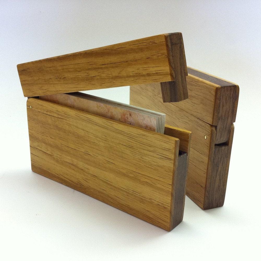 Business Card Holder Narra Wood