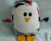 Plush Soccer Ball Penguin Pillow Pal, Baby Safe, Machine Washable