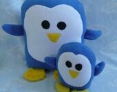 Plush Penguin Pillow Pal plus Mini Me