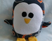 Plush Chicago Bears Penguin Pillow Pal, Baby Safe, Machine Washable