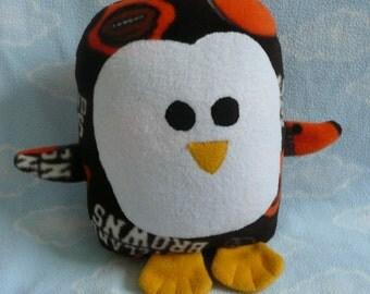 Plush Cleveland Browns Penguin Pillow Pal, Baby Safe, Machine Washable