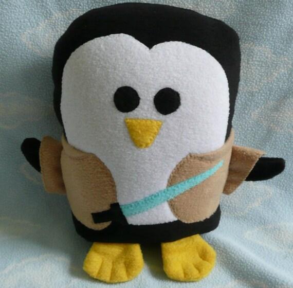 Plush Jedi Knight Penguin, Baby Safe, Machine Wash and Dry