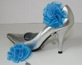 Bridal shoe clips Something Blue