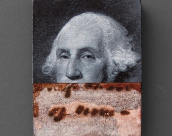 George Washington (The Father of our Country) fridge magnet - U.S. presidents, history, politics, original collage art, kitchen decor