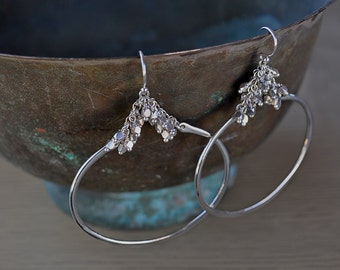 Large Delicate Silver Hoops Modern Lightweight Classic Hoop Earrings