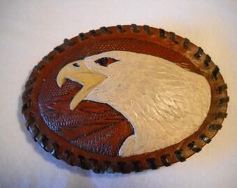 Vintage Eagle Leather Belt Buckle