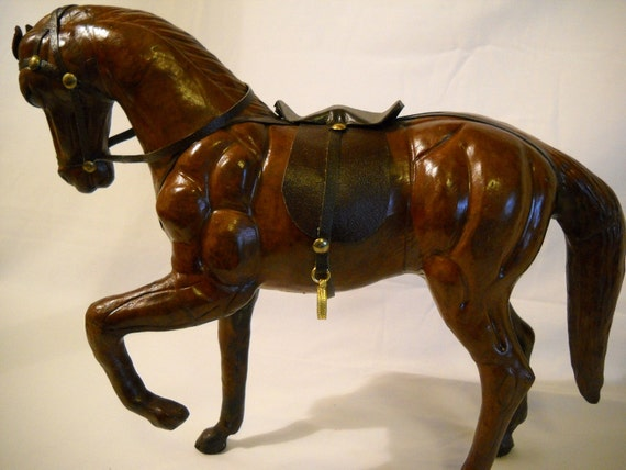 Model Horse Made With Paper Mache From India