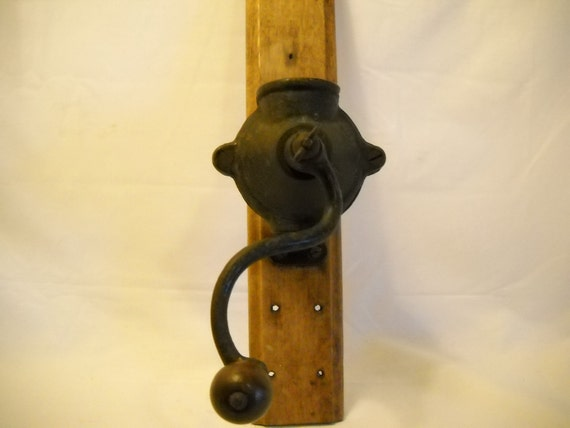 Sale Cast Iron Vintage Coffee Grinder Wall Mount Sale
