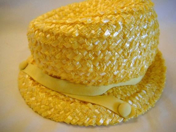 Vintage Betmar Straw Hat Yellow