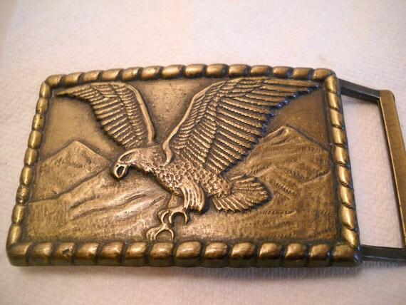 Vintage Eagle In Flight Belt Buckle