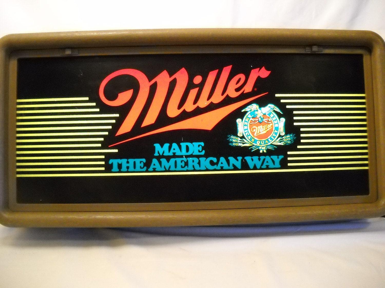 Vintage 1985 Miller Beer Lighted Wall Sign