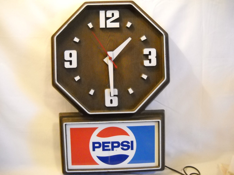 Sale Vintage Pepsi Wall Clock Advertising Sale