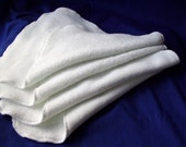 Microfiber Microterry Wash Rags, Dust Cloths, Diaper Inserts, Set of 4
