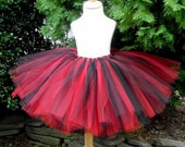 Black and Red Adult or Teen Tutu Pirate