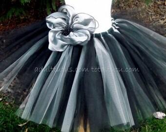 Elegant Black and Silver Adult Tutu