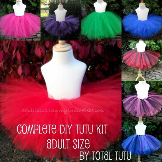 ADULT Make a Tutu Kit (No Sew) Choose Your Colors
