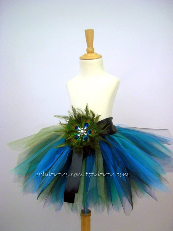 Peacock Feather Tutu Costume Youth to Adult LG