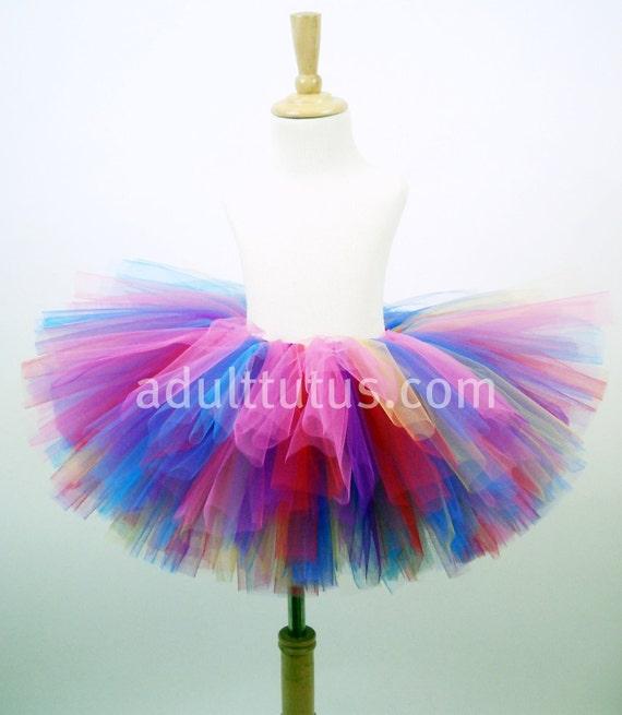 Birthday Candy Colorful Adult Tutu Teen Tutu 10 inch