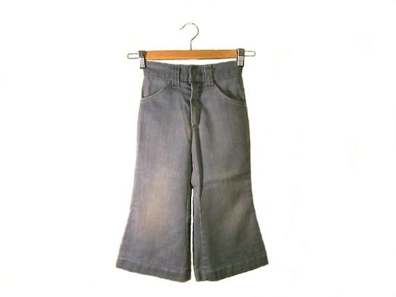 70s rare little boy's preschool denim bell bottom jeans