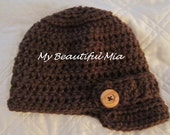Newsboy Hat with buttons