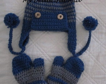 Baby-Toddler Hat and Mitten Set