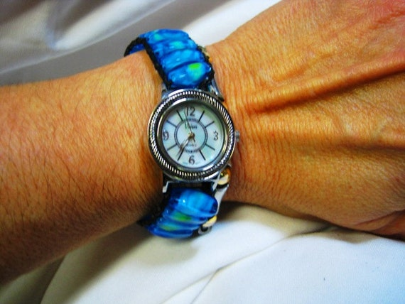 By the Sea Beaded Watch Wrap Bracelet
