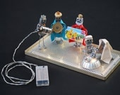 Light-Up Robot Nativity Scene