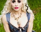 Alice in all her Wonder Birdcage Multi Strand Necklace