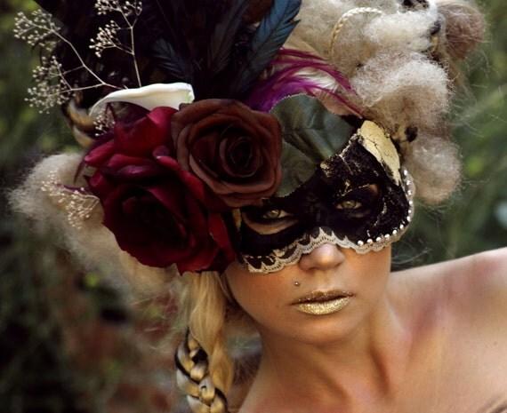 """Handmade Masquerade Mask: """"Darya"""""""